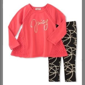 Coral swing top with matching leggings